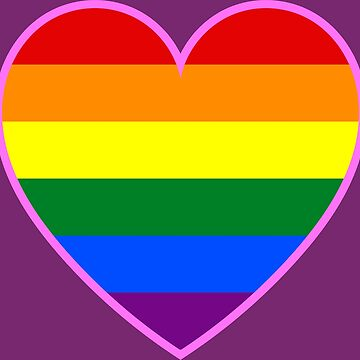 LGBT pride heart by StormCrow42