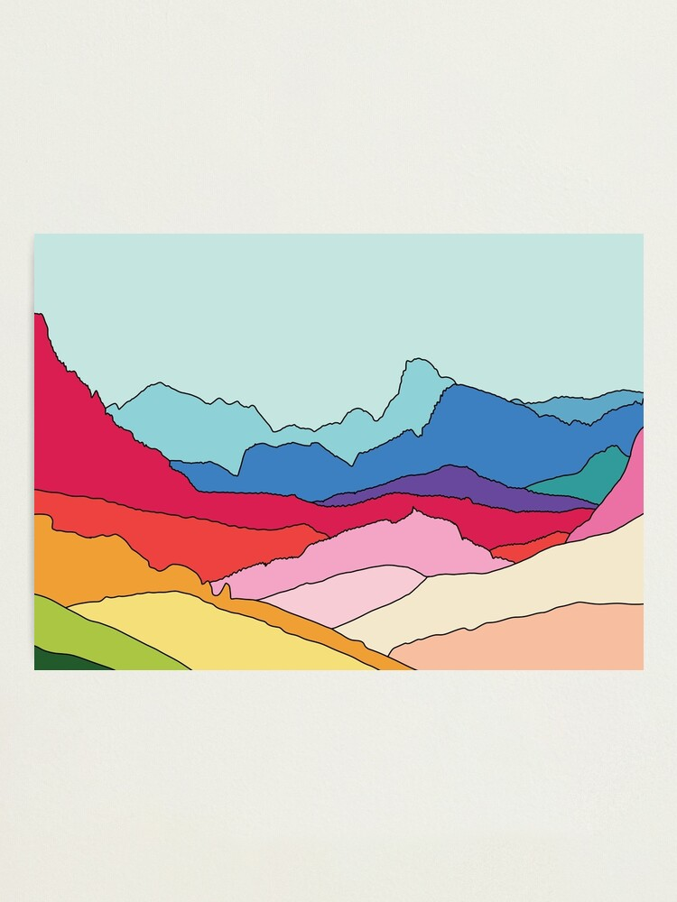 Alternate view of Rainbow mountains by Elebea Photographic Print