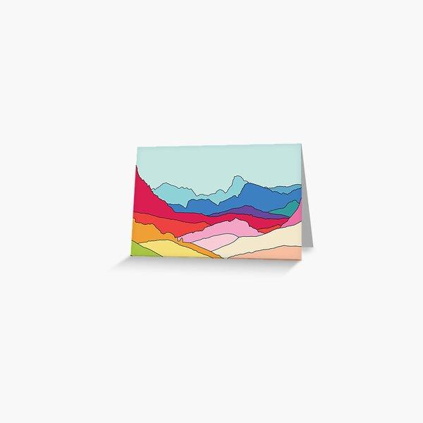 Rainbow mountains by Elebea Greeting Card
