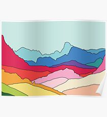 Rainbow mountains by Elebea Poster