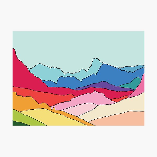 Rainbow mountains by Elebea Photographic Print