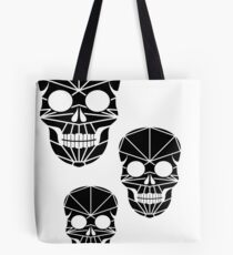 Skulls in polygonal style Tote Bag