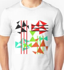 Trendy Bold Bright Colorful Abstract Geometric Design Unisex T-Shirt