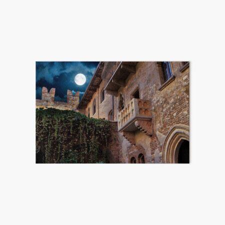Juliet's balcony in Verona Art Board Print