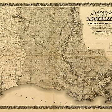 Map of the State of Louisiana (1863) by allhistory