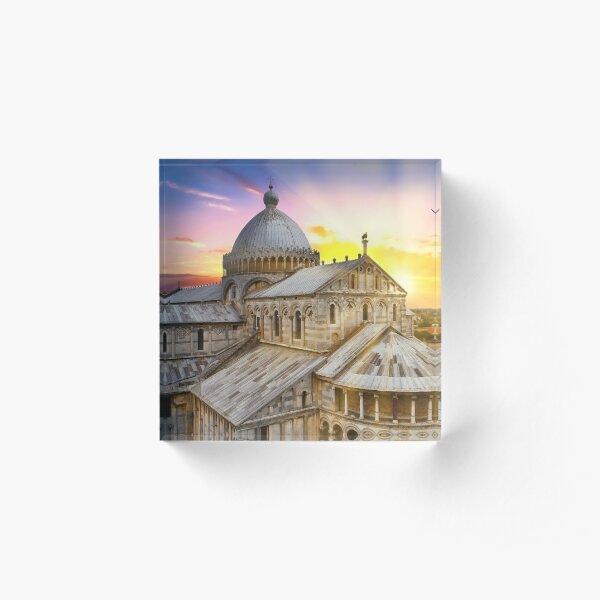 Sunset on the Duomo of Pisa Acrylic Block