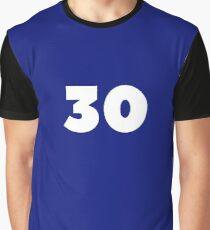 30 Thirty Years Old Lucky Number Birthday Gift Graphic T-Shirt