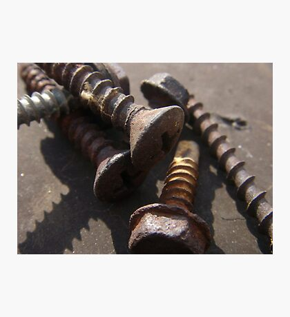 Rusty Screws Photographic Print