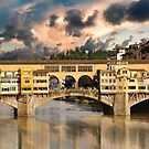 Old bridge in Florence by nicolagiordano