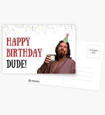 Happy birthday dude, meme greeting cards Postcards