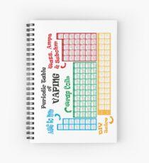Vape Design Periodic Table of Vaping Spiral Notebook