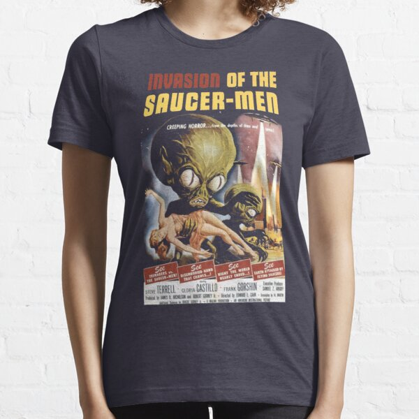 Old film poster - invasion of the saucer-men 1957 Essential T-Shirt