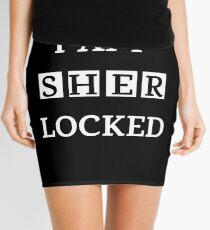 I am sher locked gif meme quote Tee shirt Mini Skirt