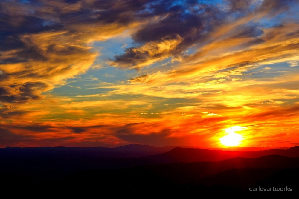 West Virginia Sunset by carlosartworks