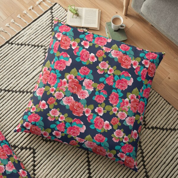 Red Rose floor pillow