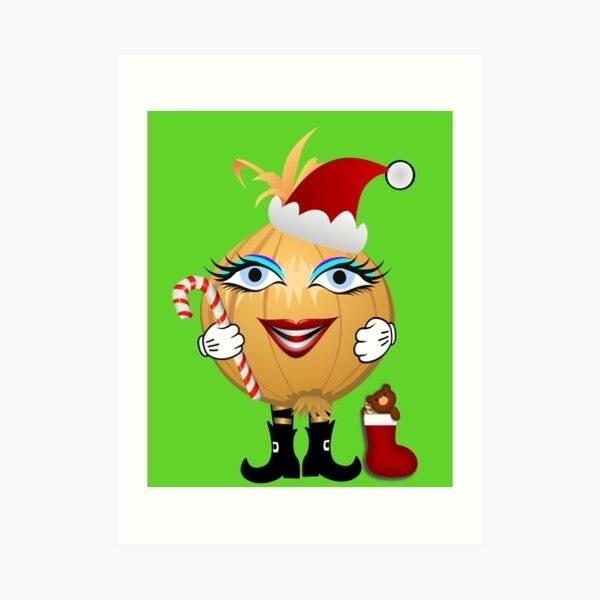 Weihnachts Zwiebel Kunstdruck