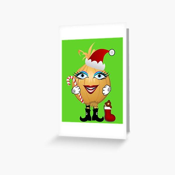 Weihnachts Zwiebel Grußkarte