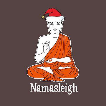 Namasleigh Yoga Christmas design - Meditating Santa by JuditR
