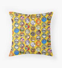 Cuphead Boss Pattern Throw Pillow