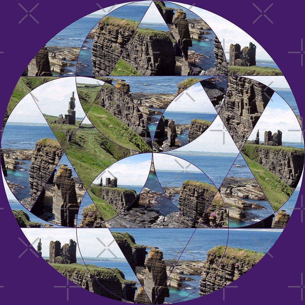 Fractured Castle and Seastack by SiobhanFraser