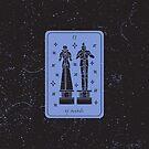 Tarot Card - II of Swords by Sydney Koffler