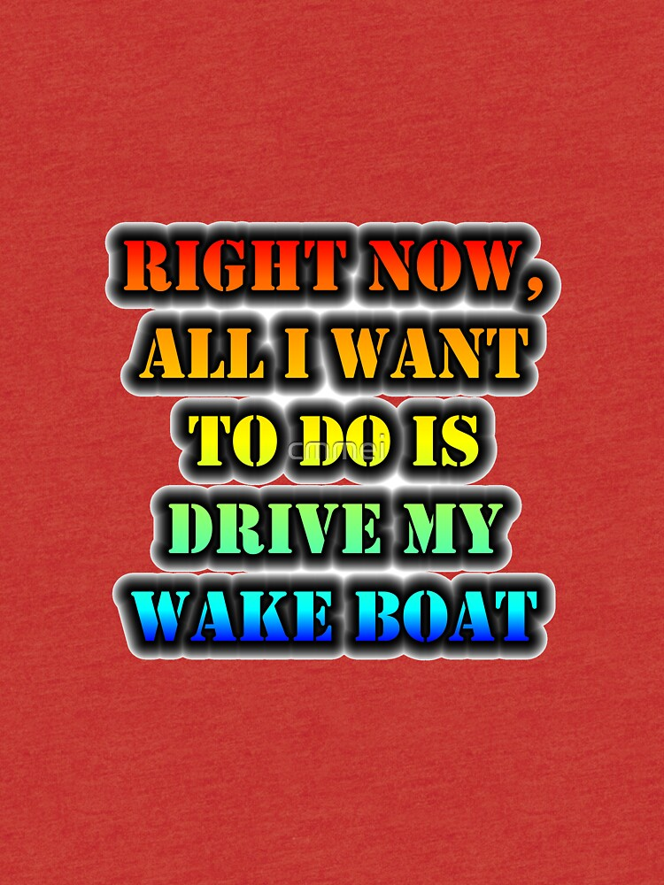 Right Now, All I Want To Do Is Drive My Wake Boat by cmmei