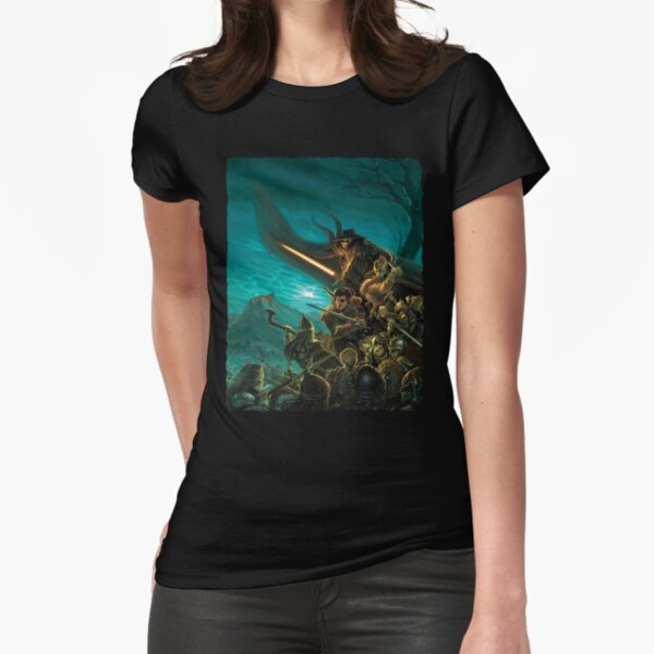 Scarred Lands Cover Art: Hollowfaust: City of Necromancers Fitted T-Shirt