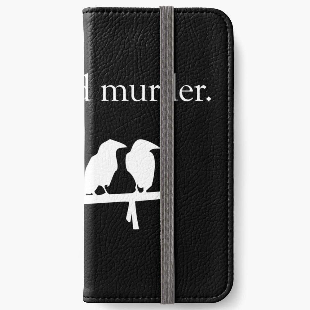Attempted Murder (White design) iPhone Wallet