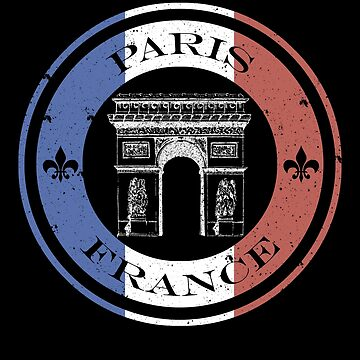 Paris, France French Flag, Arc de Triomphe Gifts + Tees  by sparkpress