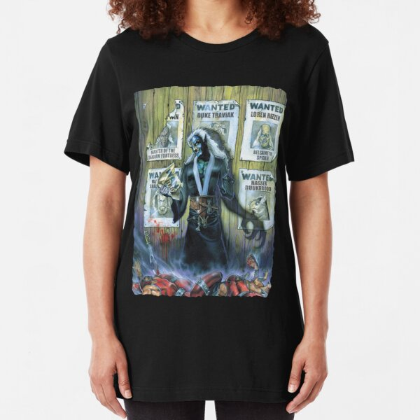 Scarred Lands Cover Art: The Wise and The Wicked Slim Fit T-Shirt