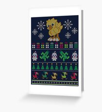 Merry Chocobo Greeting Card