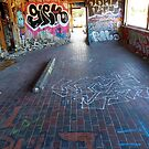 Abandoned Graffiti Skateboard Building Colored by Robert Goulet