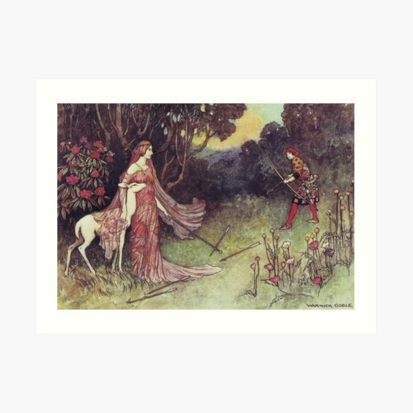 The Hind of the Forest - Warwick Goble Art Print