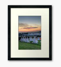 Glastonbury Festival Sunset Framed Print