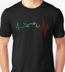 Motorcycle Heartbeat Unisex T-Shirt