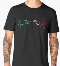 Motorcycle Heartbeat Men's Premium T-Shirt
