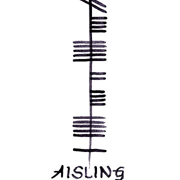Dream in Irish Ogham Script - Aisling by Cleave