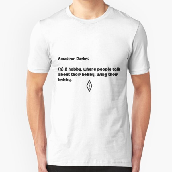 Amateur Radio is so Meta Slim Fit T-Shirt