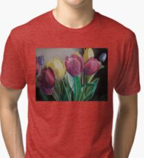 Rainbow of Tulips Tri-blend T-Shirt