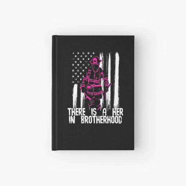 Female Woman Firefighter Gift Hardcover Journal
