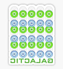 galactic in 3d Sticker