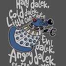 Hard Dalek, Cold Dalek by B4DW0LF