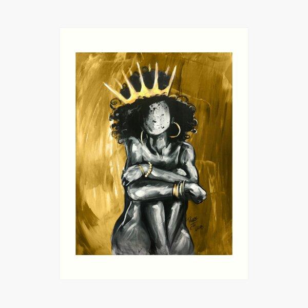 Naturally Queen IX GOLD Art Print