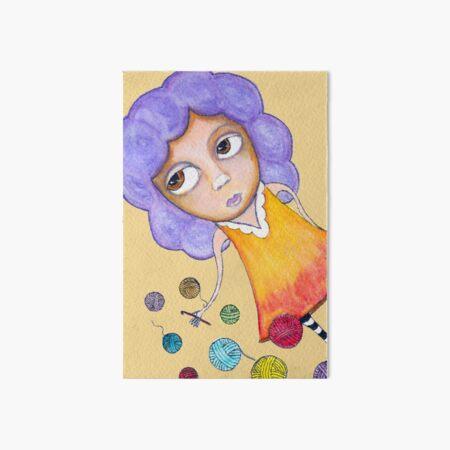 Crochet Girl Art Board Print