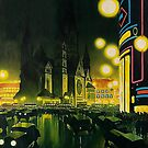Berlin at Night 1939, by Jupp Wirtz by edsimoneit