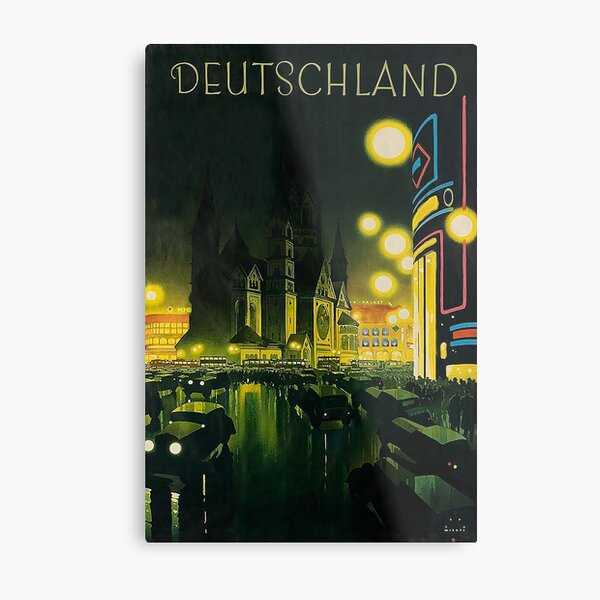 Berlin at Night 1939, by Jupp Wiertz Metal Print