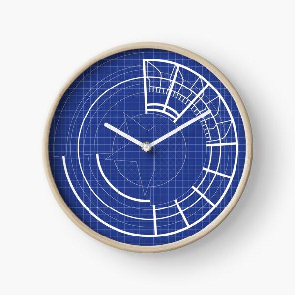 Blueprint Prototype Shield Clock