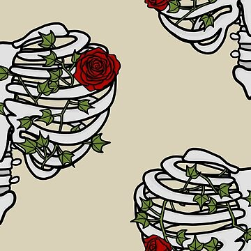 Heart Shaped Rib Cage Roses and Ivy by GoodbyeDolly
