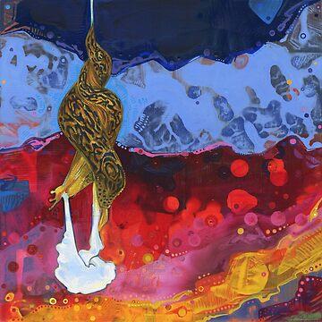 Leopard slug painting - 2012 by gwennpaints