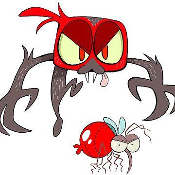 Vampire Jumping Spider by bogleech